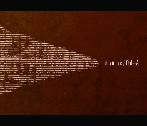 Miotic album ctrl+a copertina ascii art